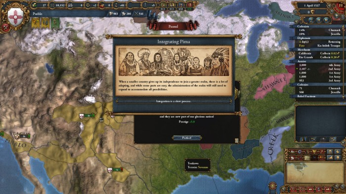 Cities of Cibola Achievement, and some EU4 gameplay as North
